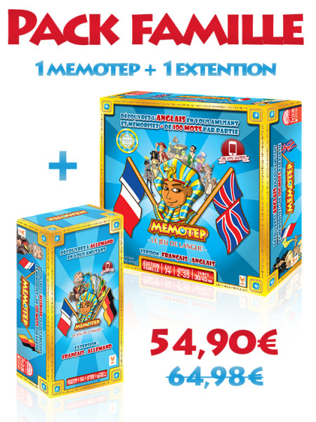 Memotep pack famille Anglais / allemand